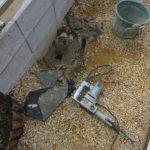 モルタルが固まった後に作業をやり直すのは、どれくらい大変なのか!??