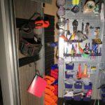 ガレージハウスの工具棚カスタム