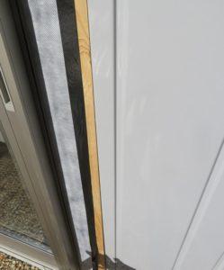 イナバガレージの掃出窓の防水処理