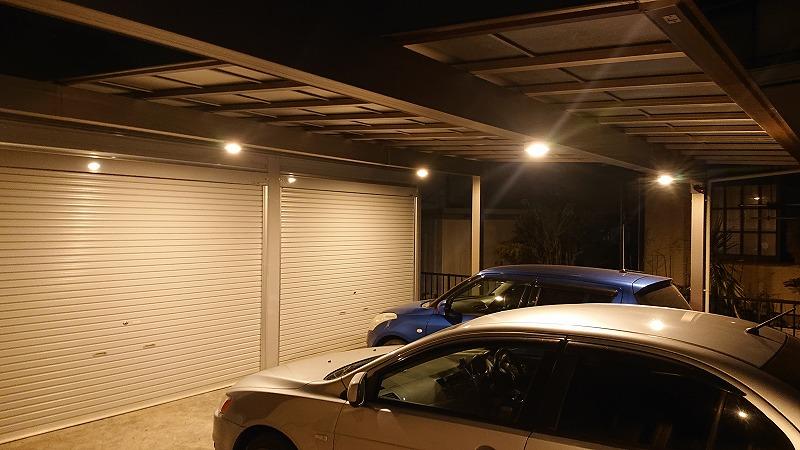 駐車場が暗い!カーポートに人感センサーライトを取り付ける【その3】